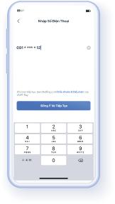 Bước 2: Nhập số điện thoại đăng ký